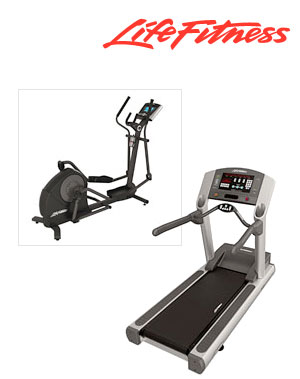Life Fitness treadmill and Elliptical